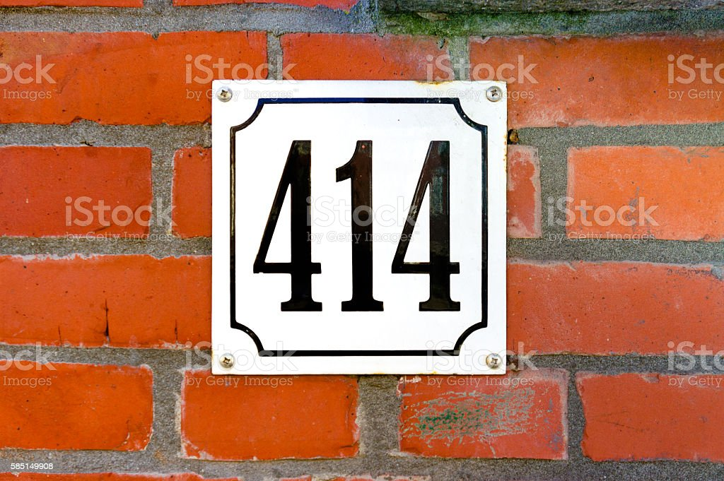 Number 414 stock photo