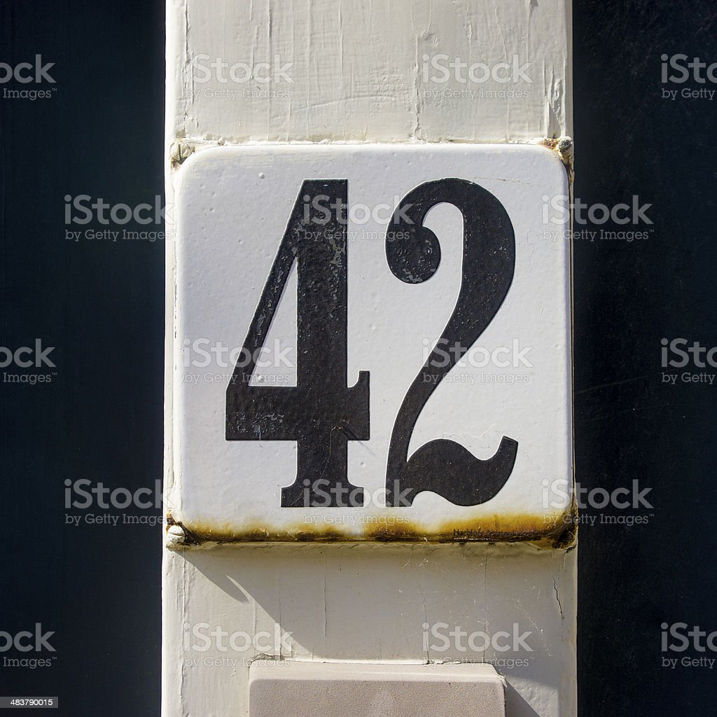 Number 42 stock photo