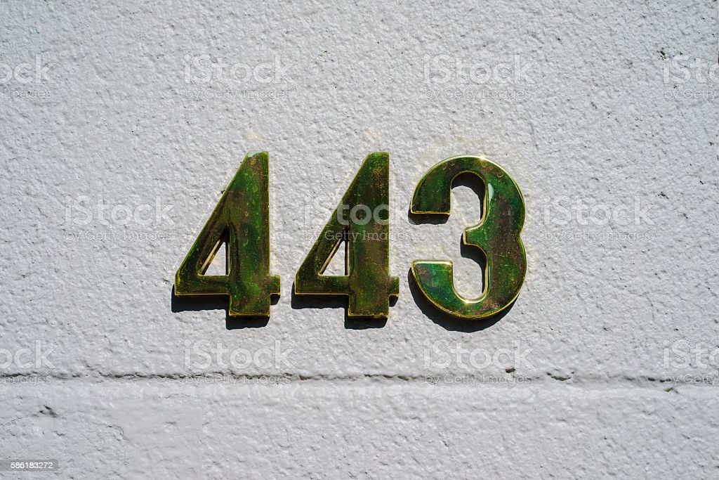Number 443 stock photo