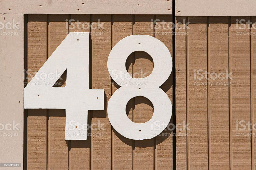 number 48 stock photo