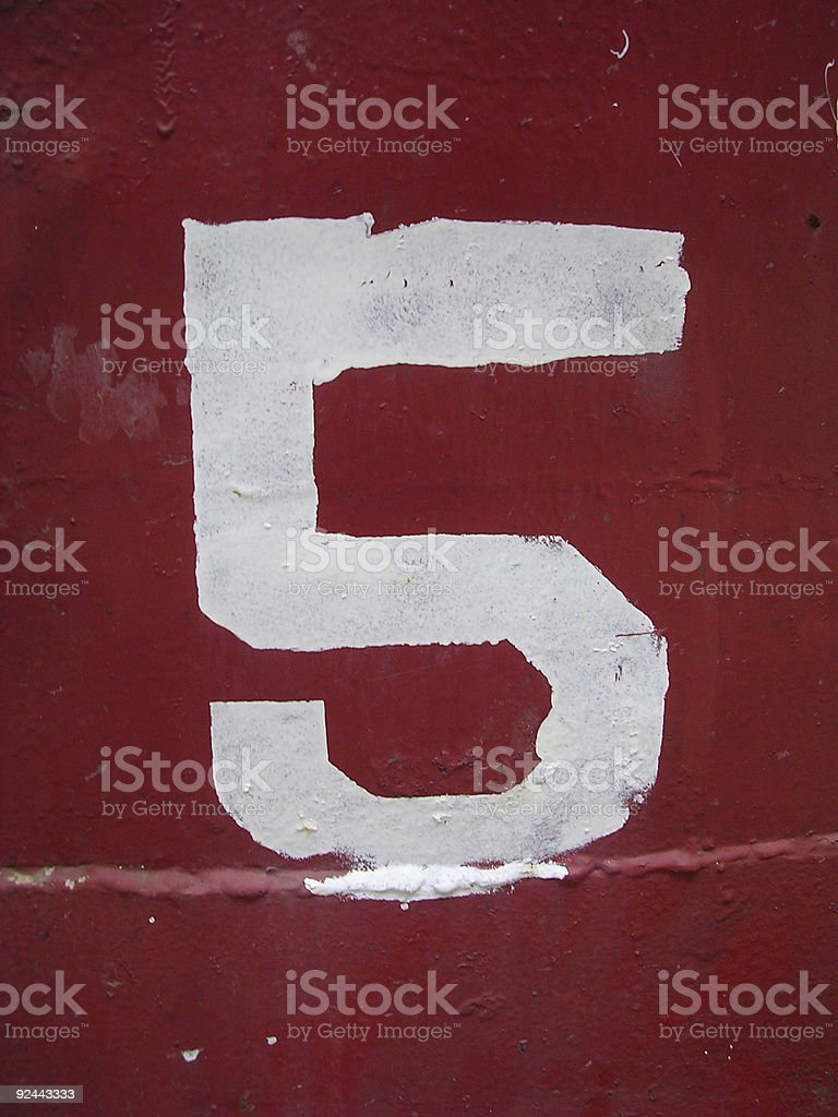 Number 5 royalty-free stock photo