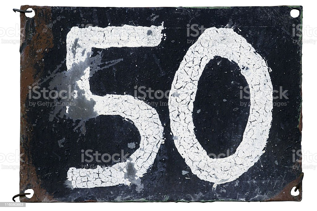 Number 50 royalty-free stock photo