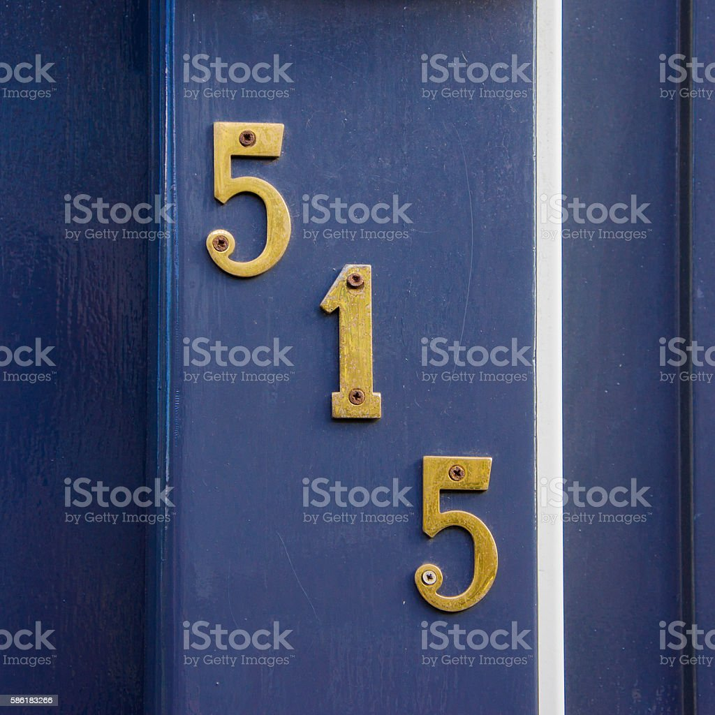 Number 515 stock photo