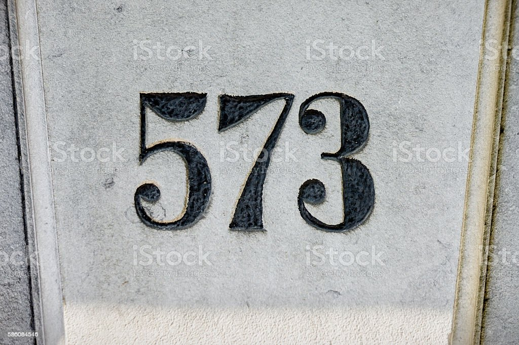 Number 573 stock photo