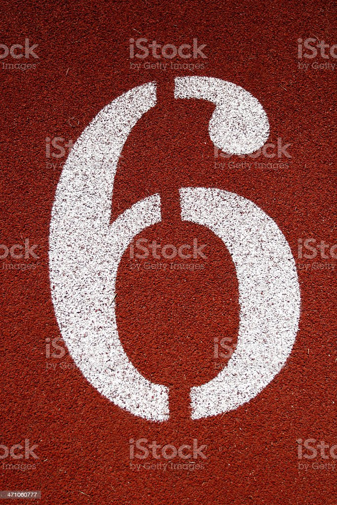 Number '6' stock photo