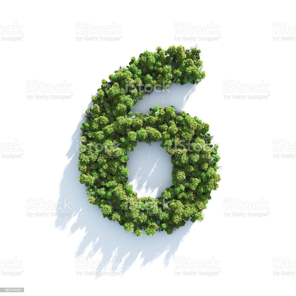 Number 6: Top View royalty-free stock photo