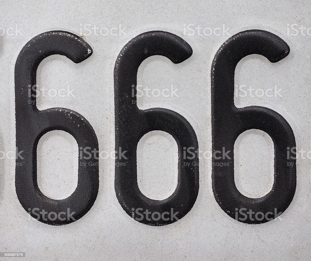 Number 666 stock photo