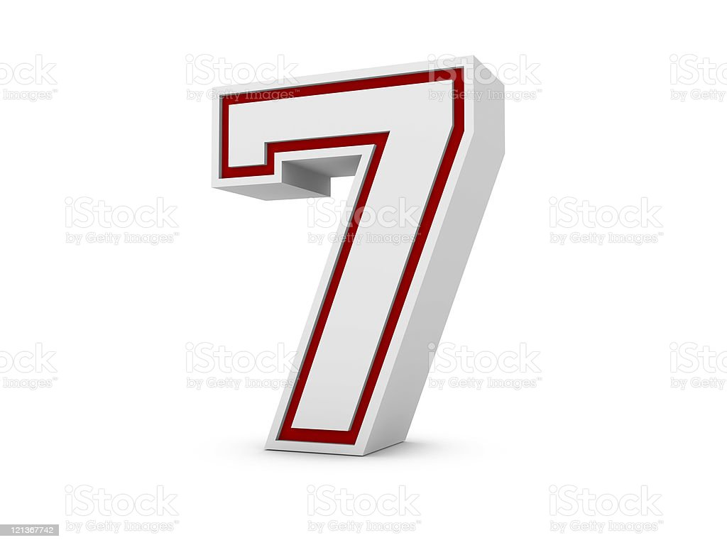 Number 7 in School Style royalty-free stock photo
