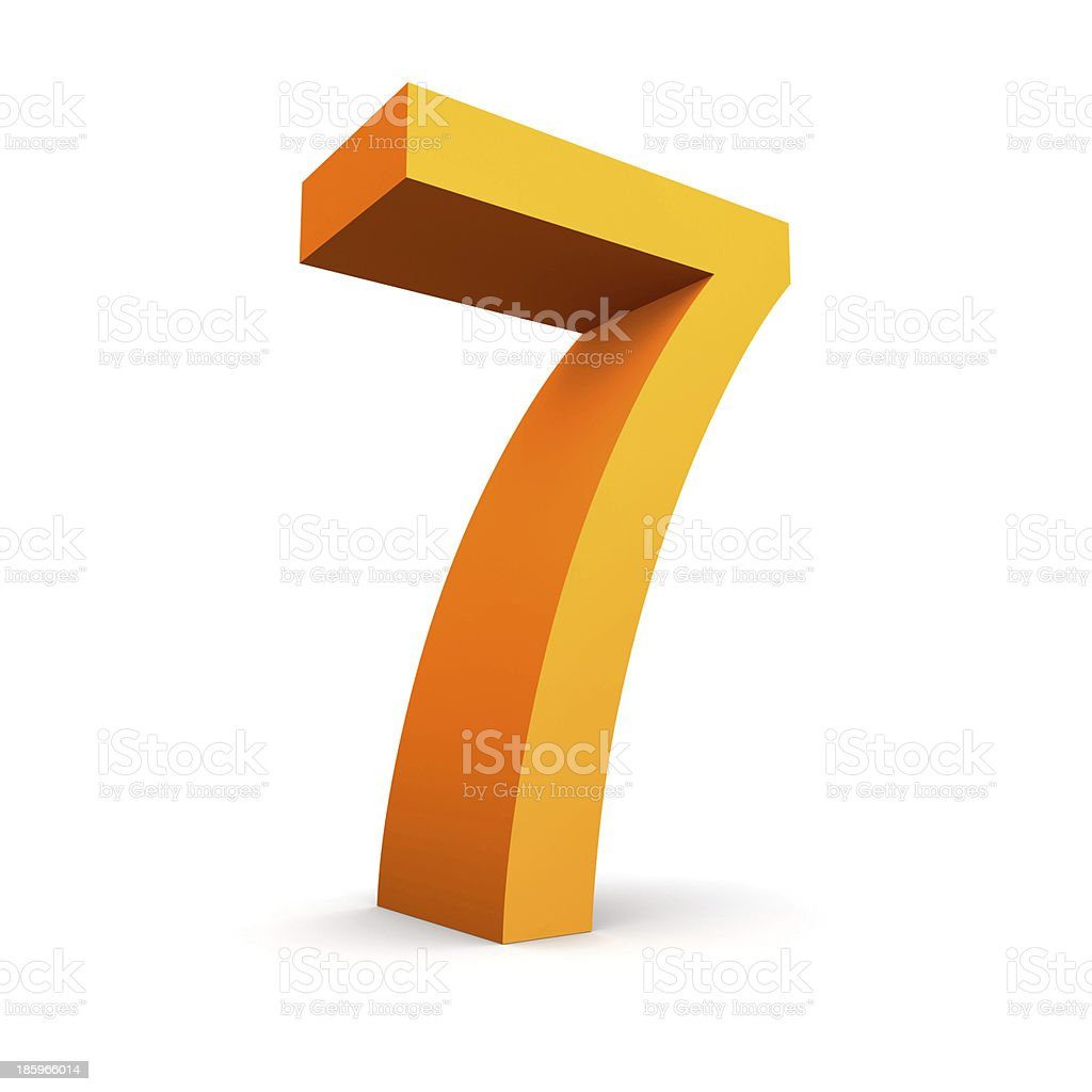 number 7 royalty-free stock photo