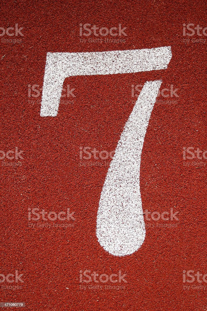 Number '7' stock photo