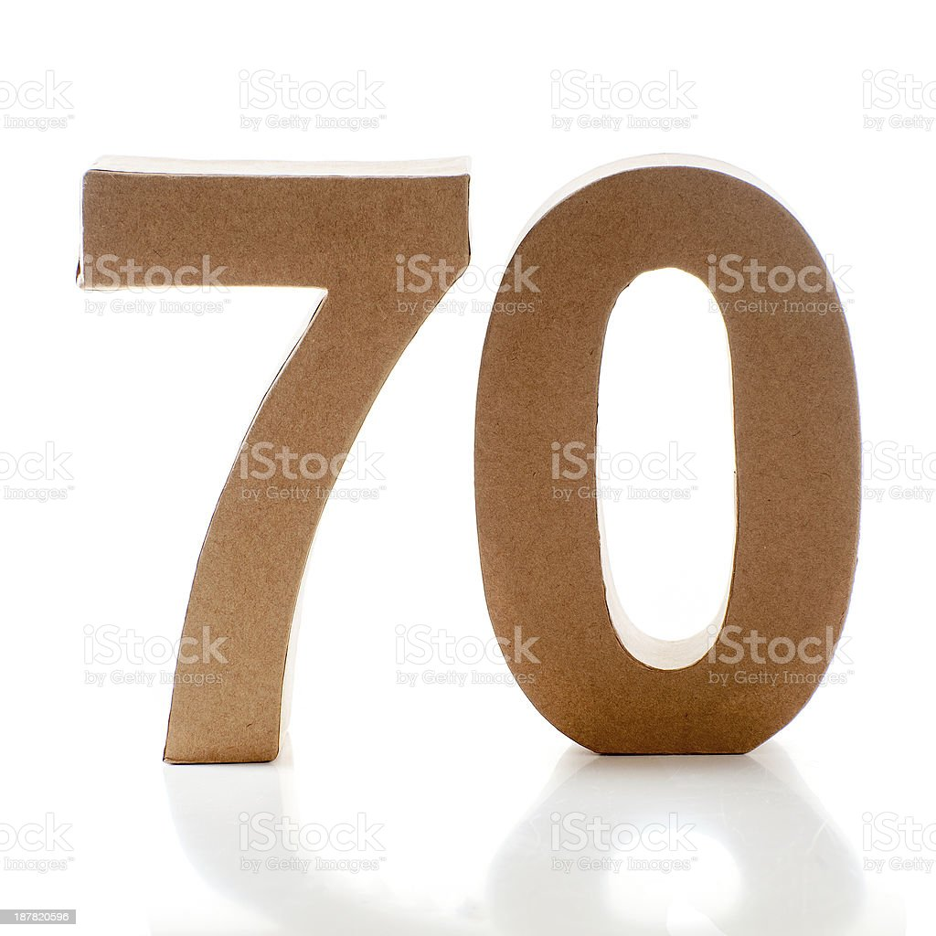 number 70 stock photo