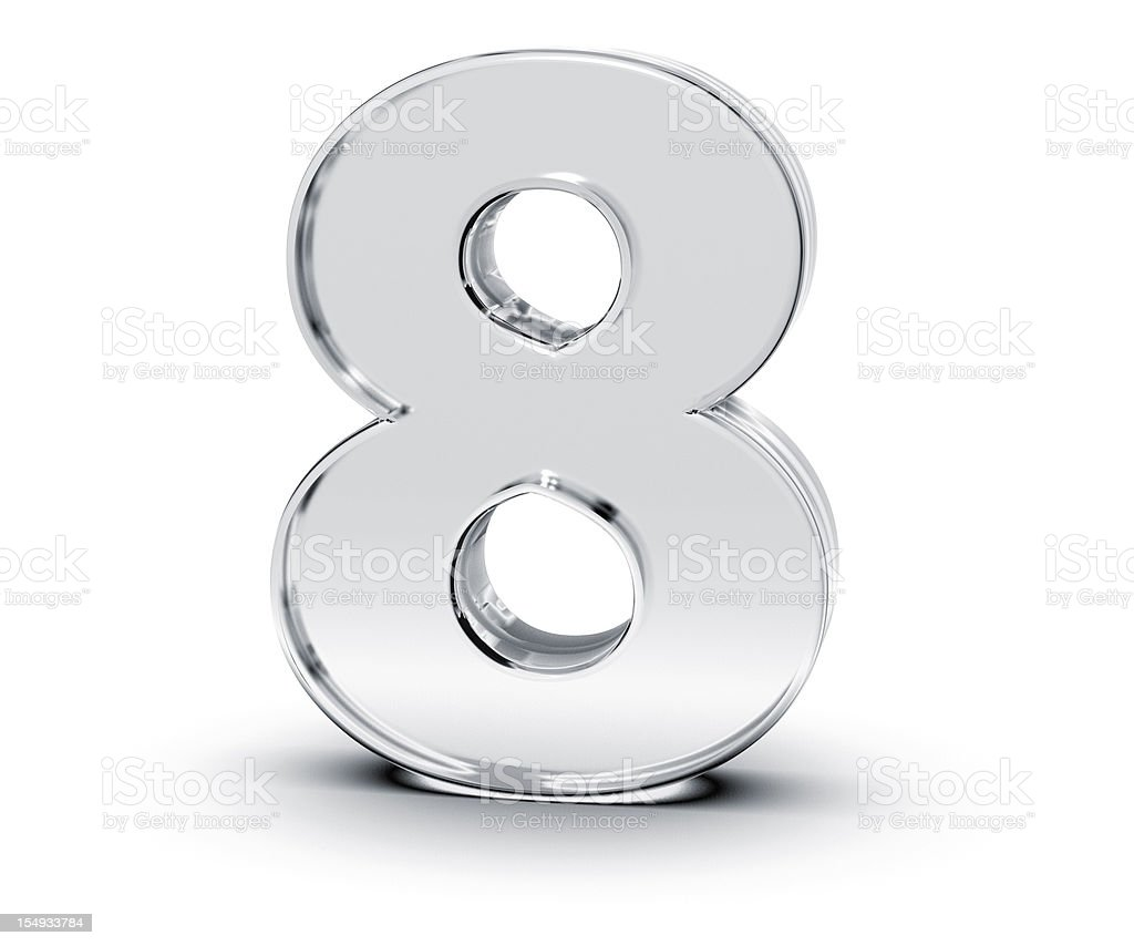 Number 8 stock photo