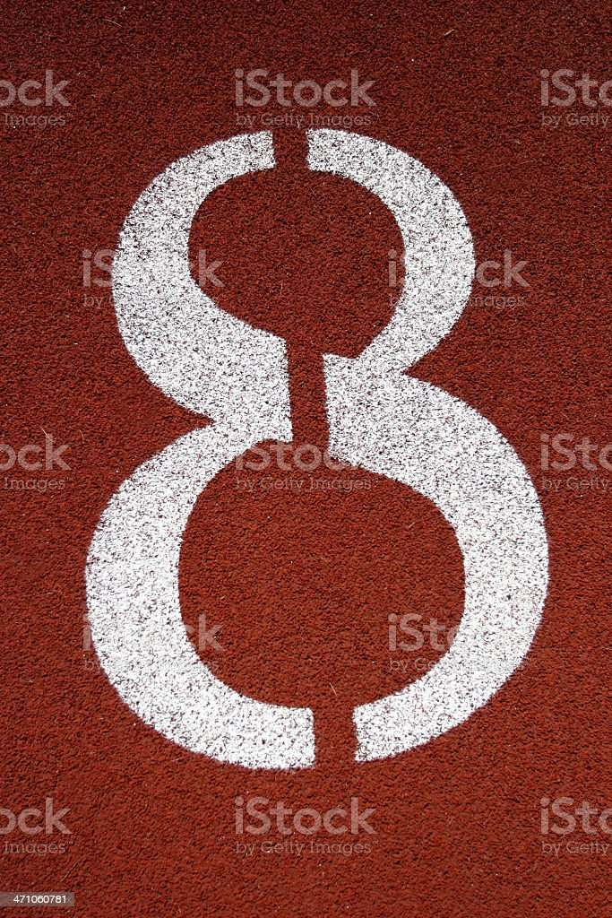 Number '8' stock photo