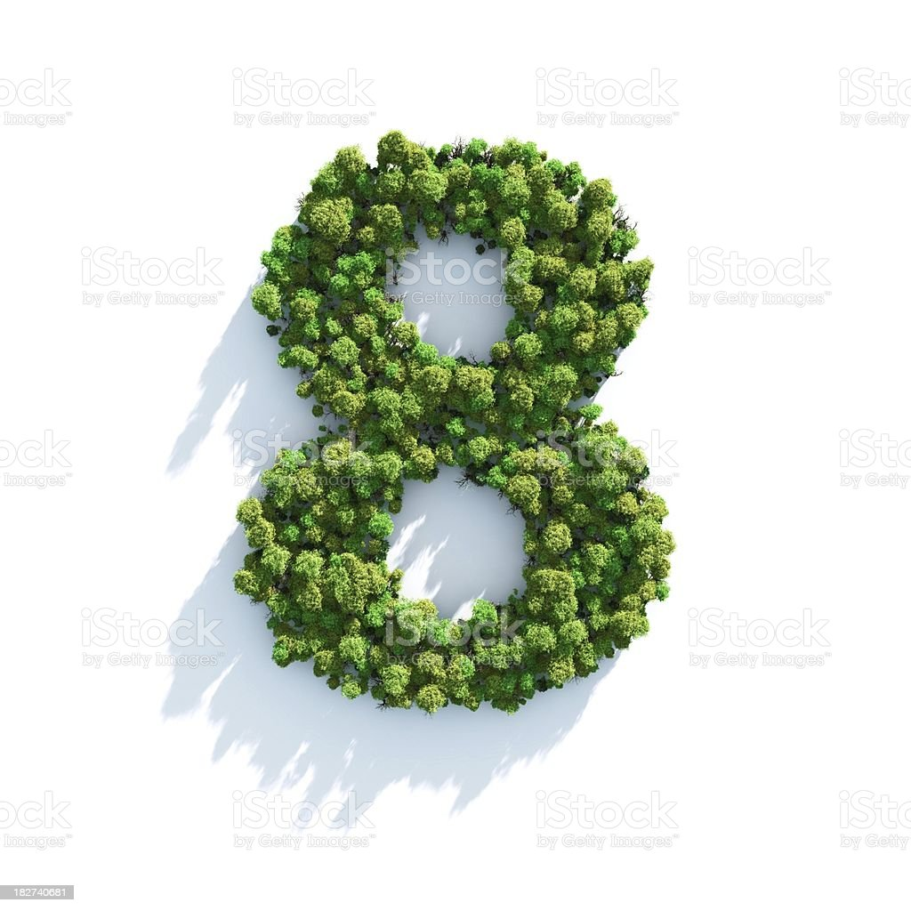 Number 8: Top View royalty-free stock photo