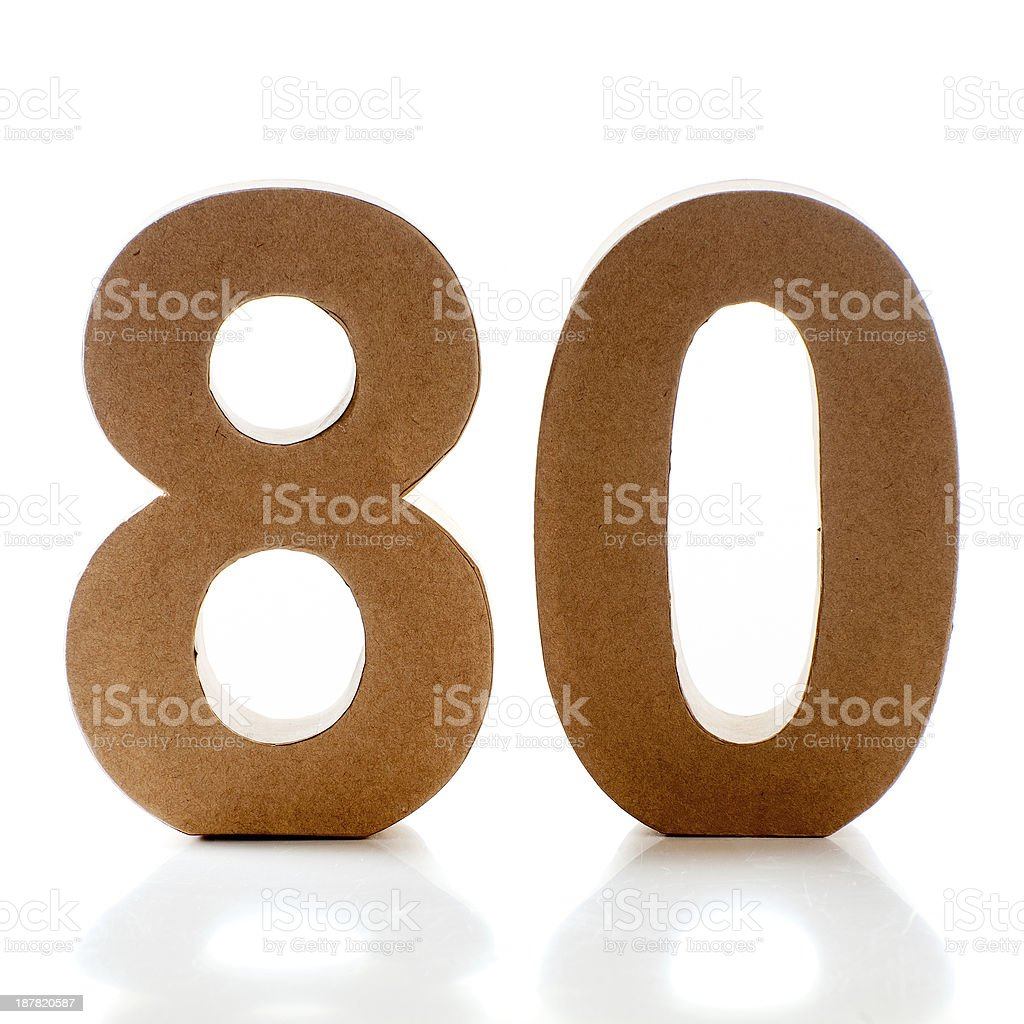 number 80 stock photo