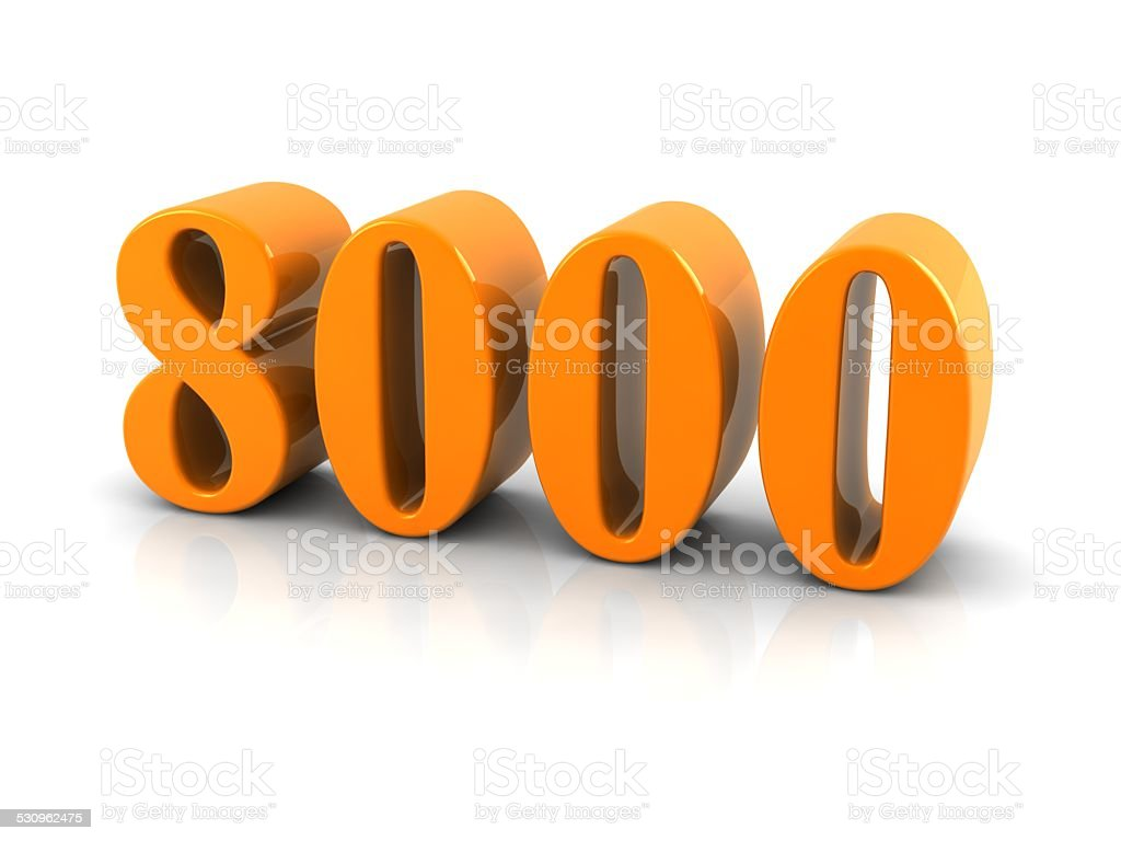 number 8000 stock photo