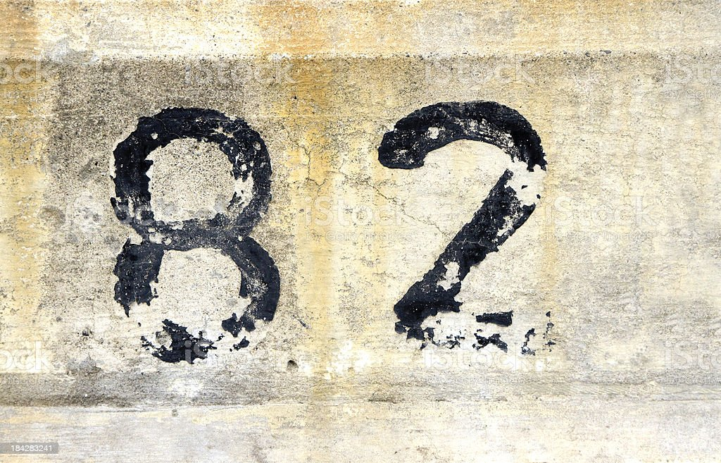 number 82 stock photo