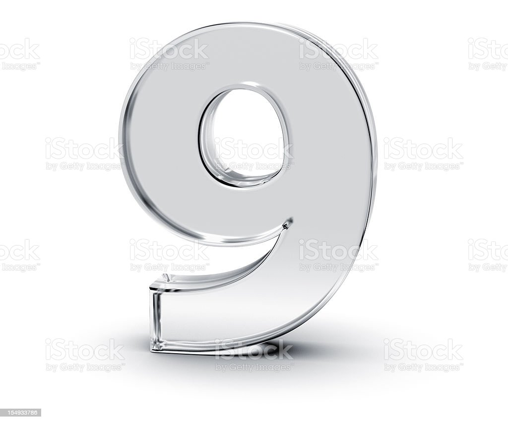 Number 9 royalty-free stock vector art
