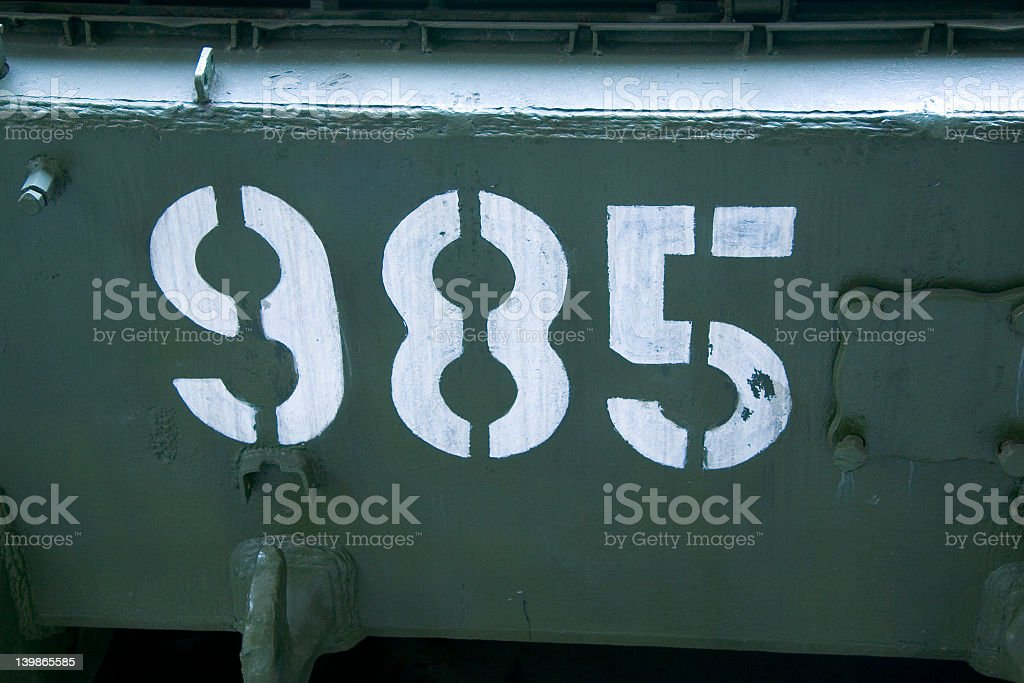 Number 985 stock photo
