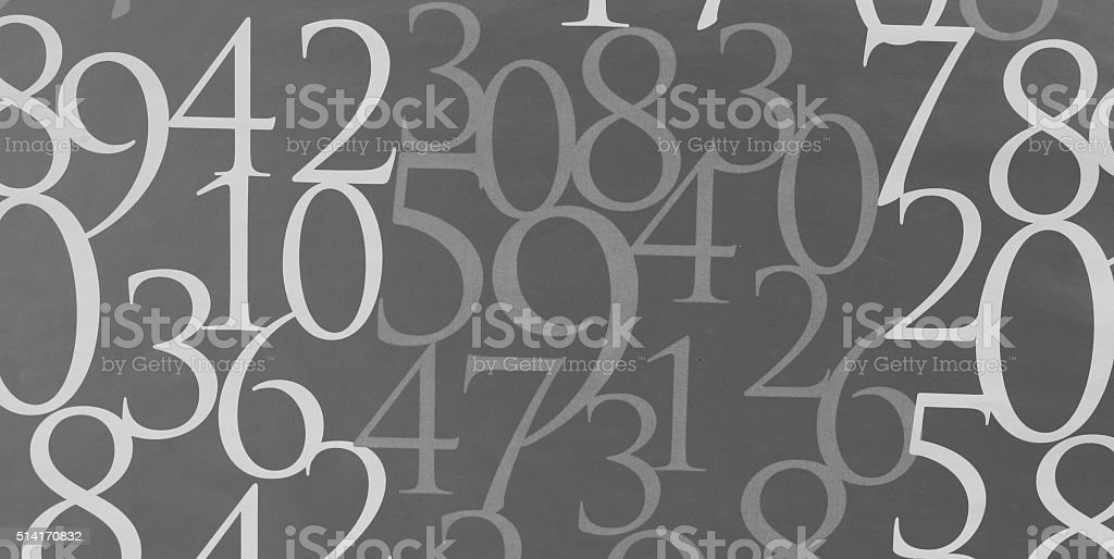 Number background stock photo