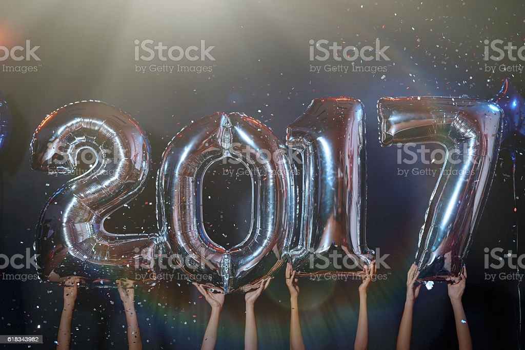 2017 number balloons stock photo