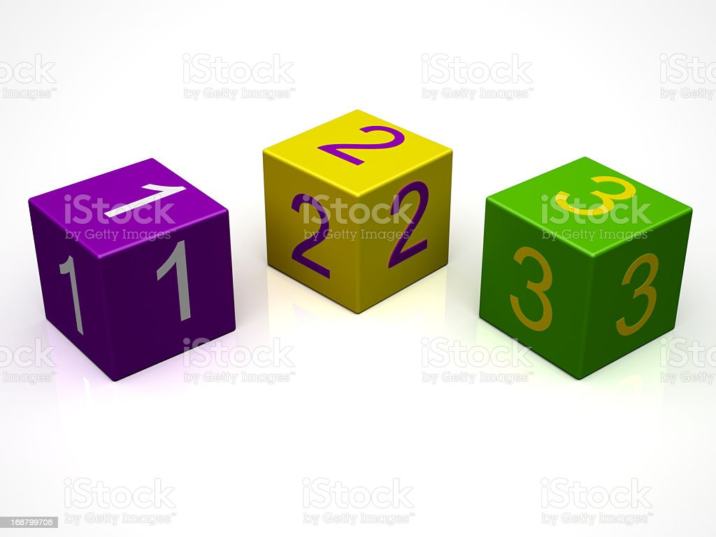 Number Block royalty-free stock photo