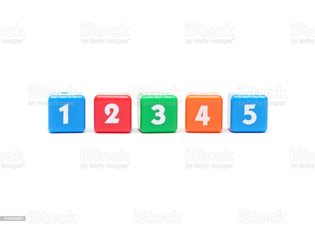 Number Blocks stock photo