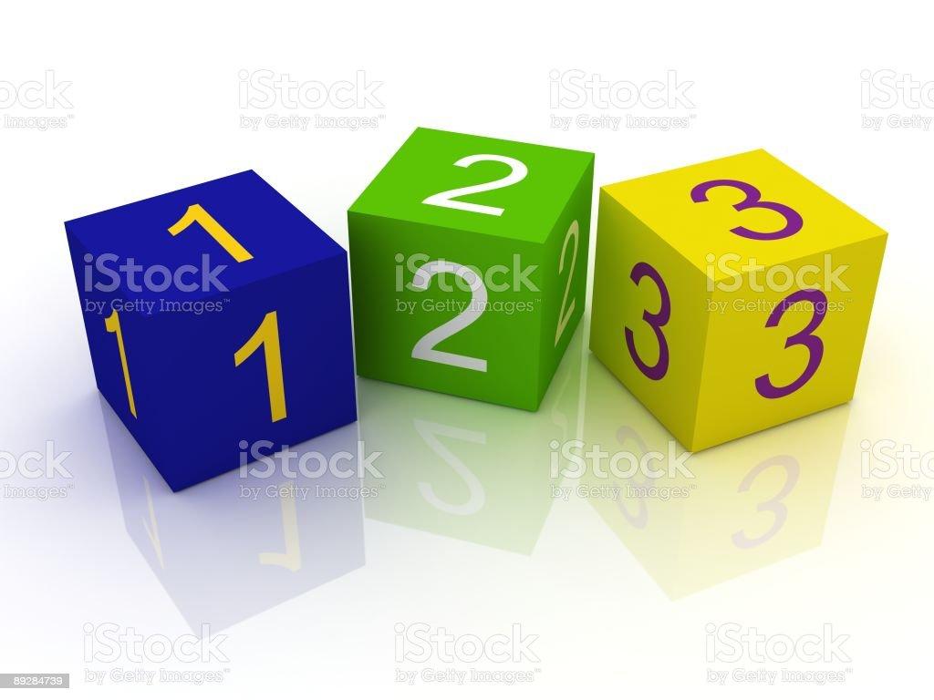 Number Blocks royalty-free stock photo