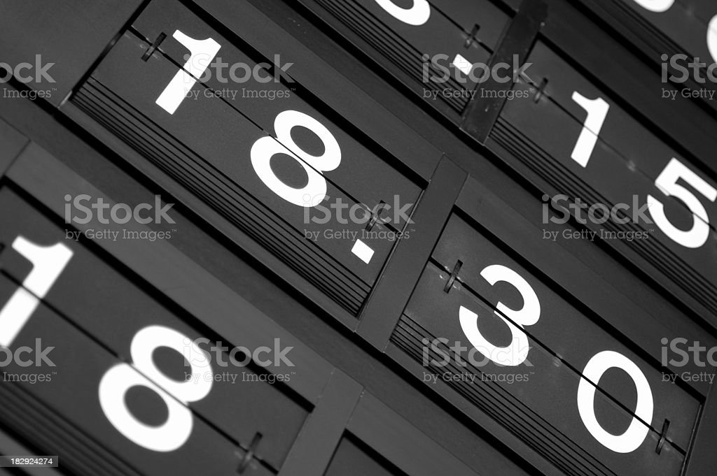 Number board stock photo