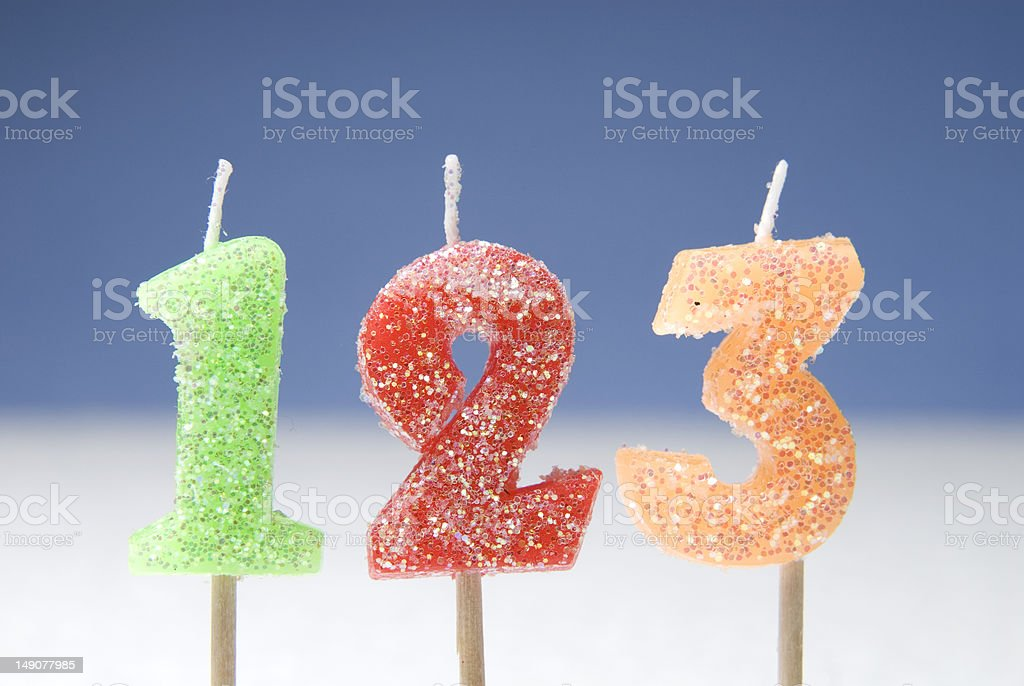 number candles royalty-free stock photo