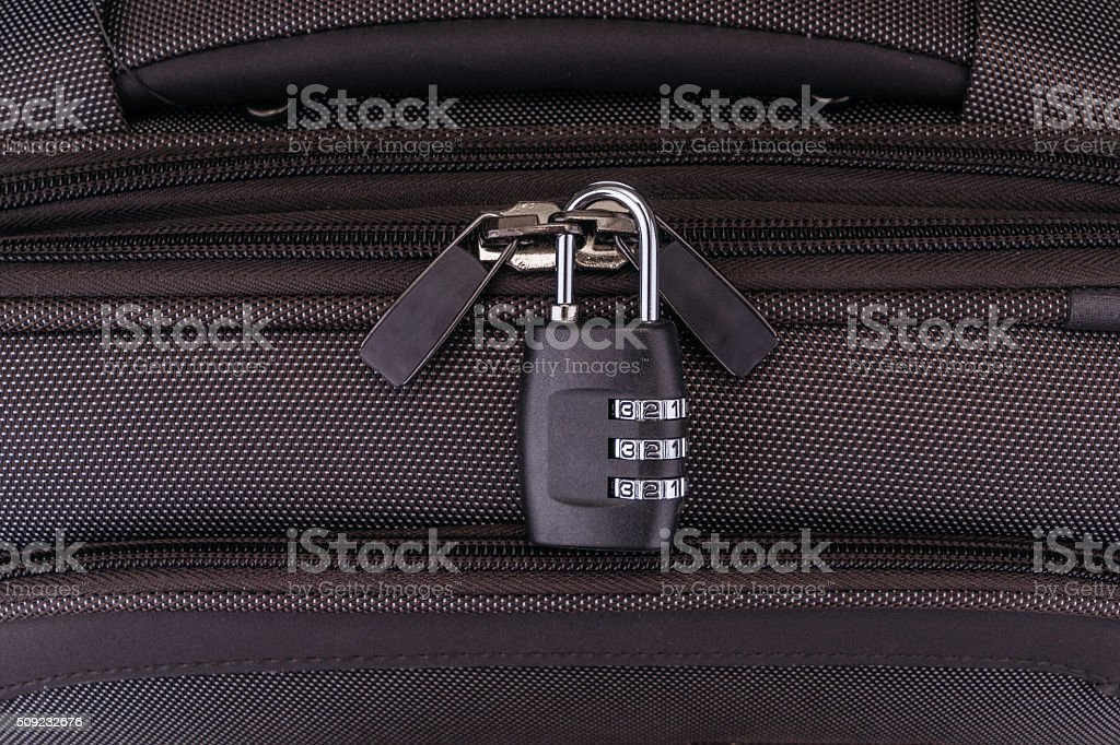 Number combination padlock stock photo