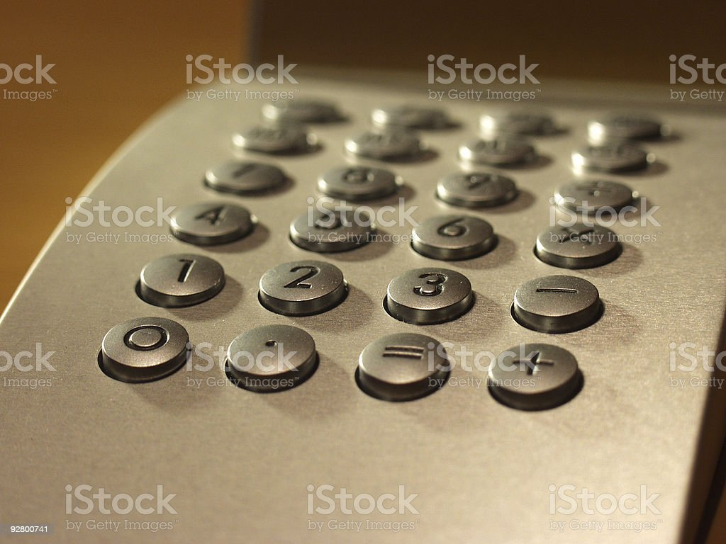 Number Crunching royalty-free stock photo