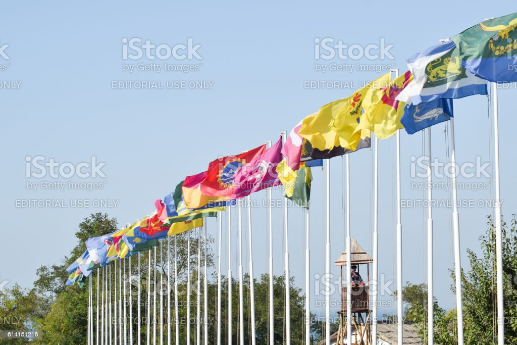 number  different flags stock photo