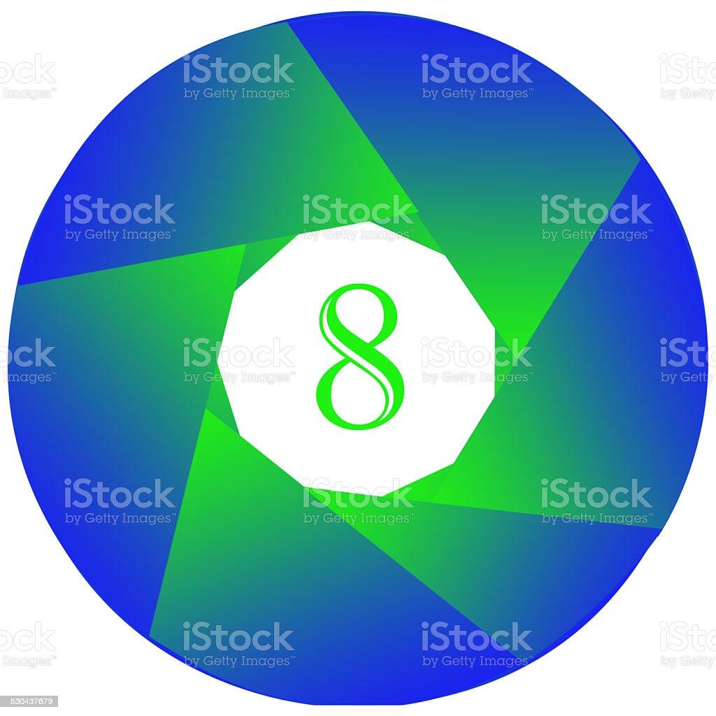 Numer osiem. zbiór zdjęć royalty-free