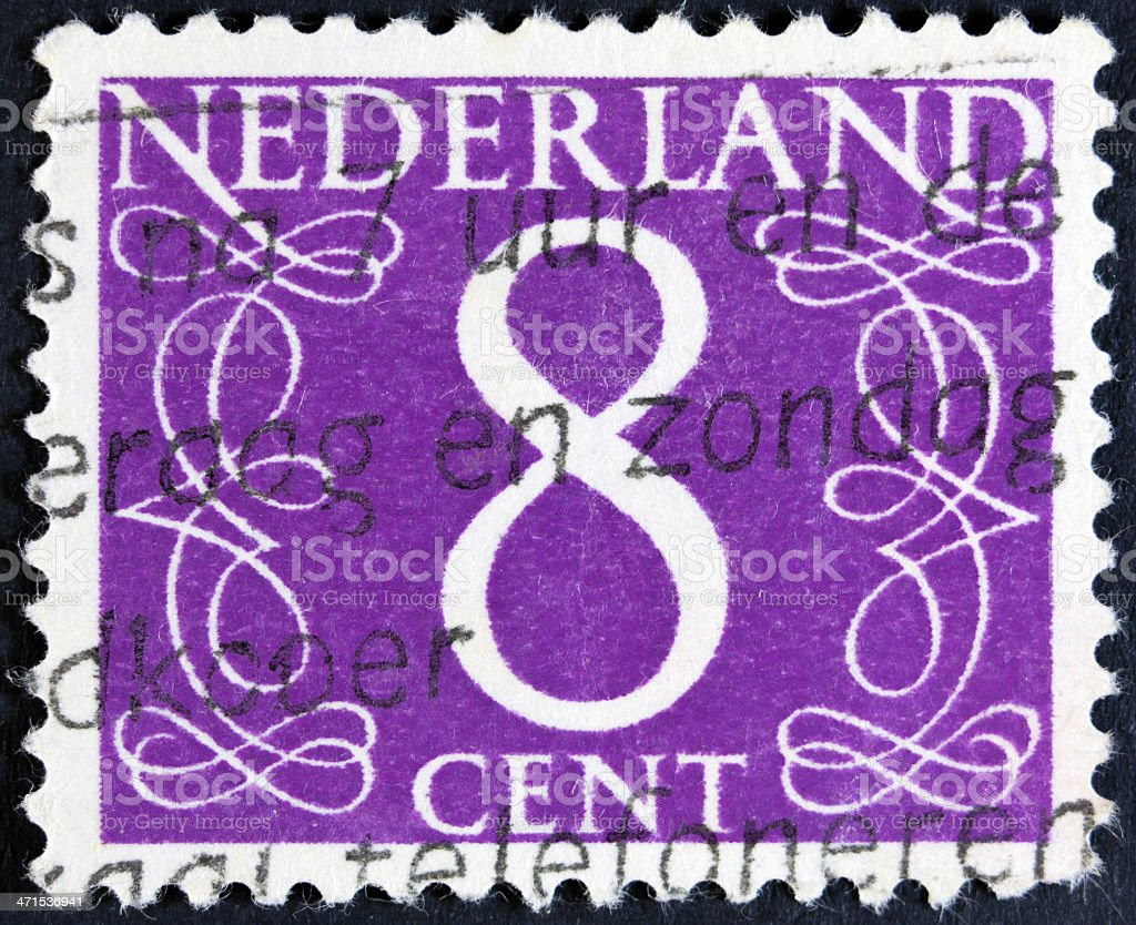 Number eight stamp royalty-free stock photo