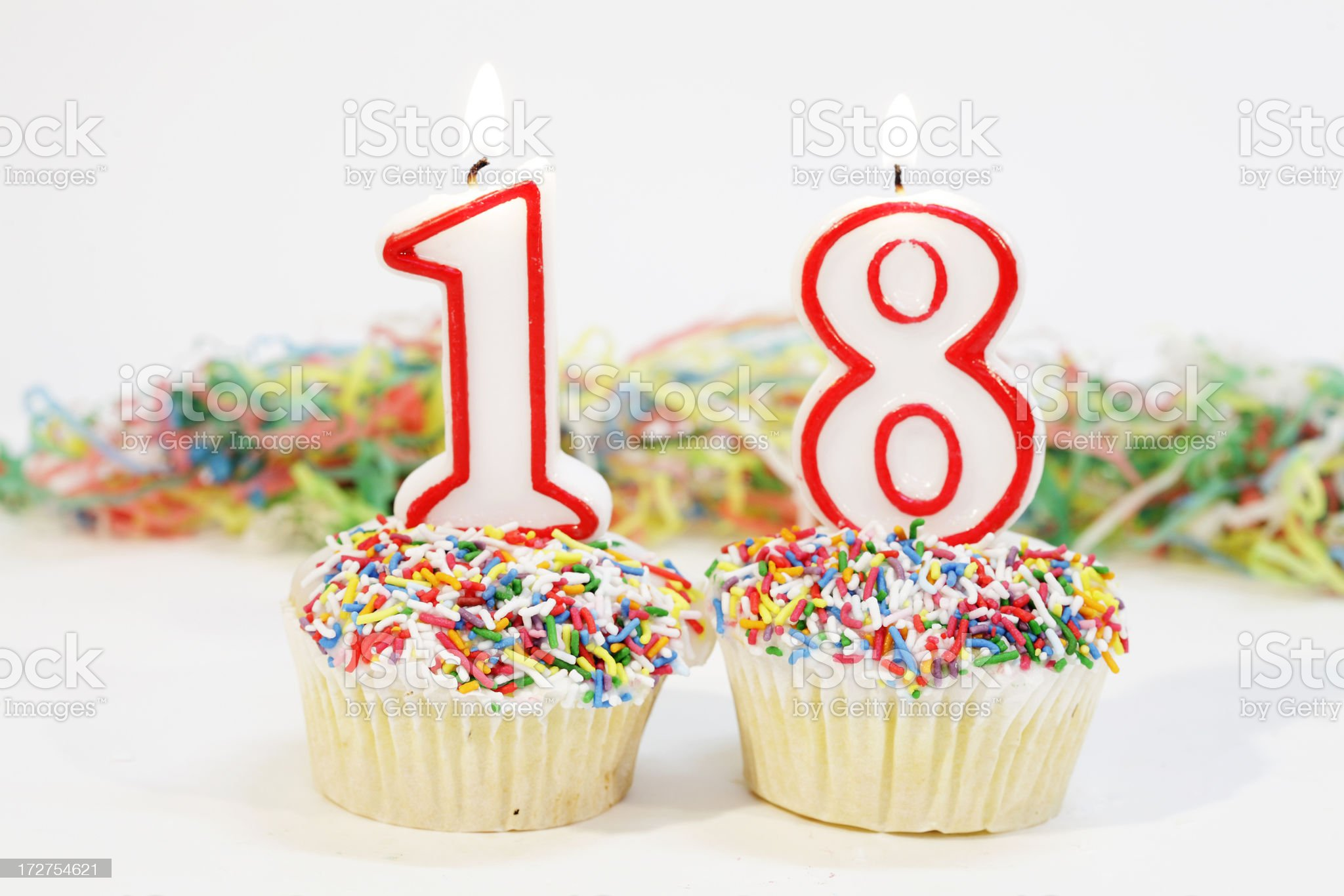 Number EighteenParty Cake royalty-free stock photo