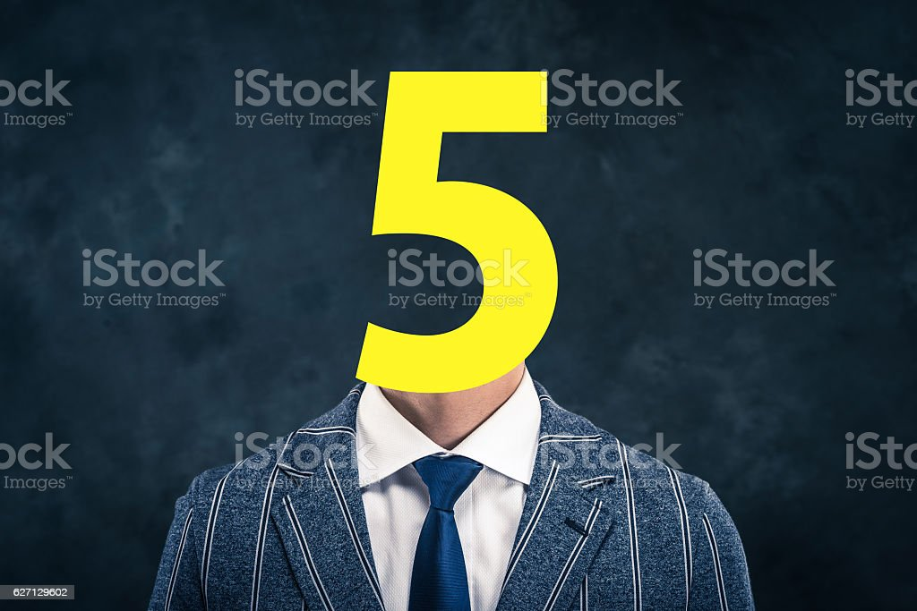 number face businessmen stock photo