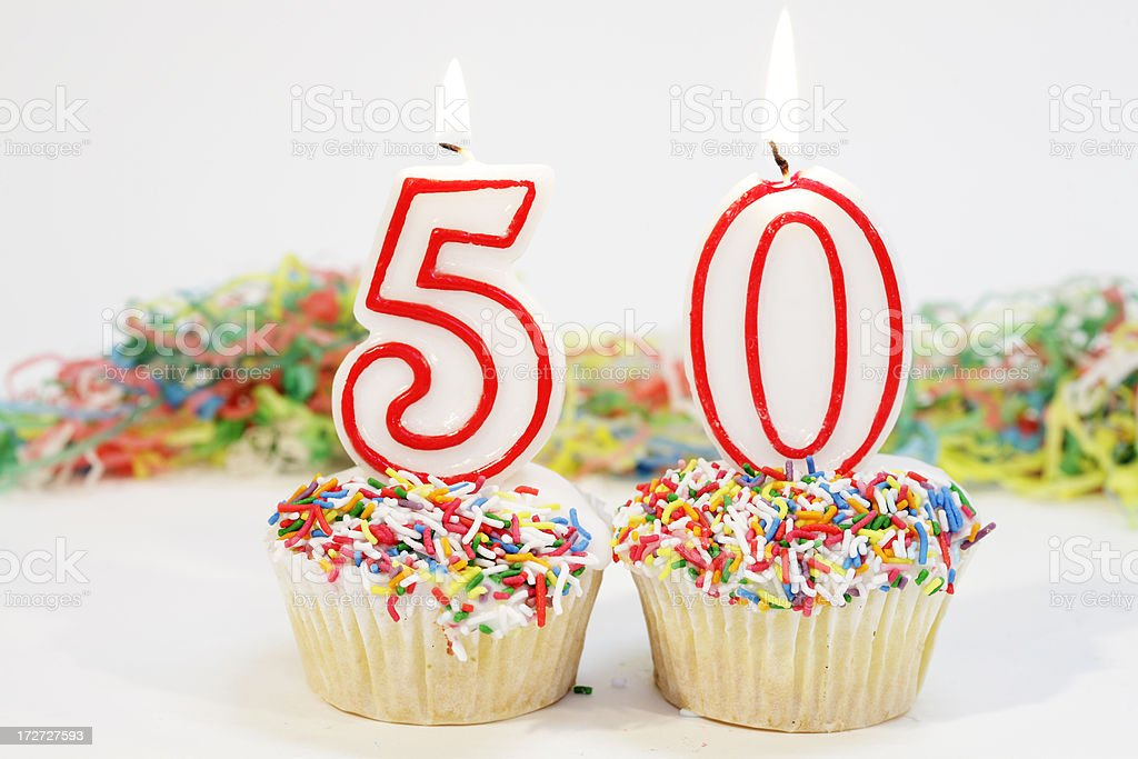 Number Fifty Party Cake royalty-free stock photo