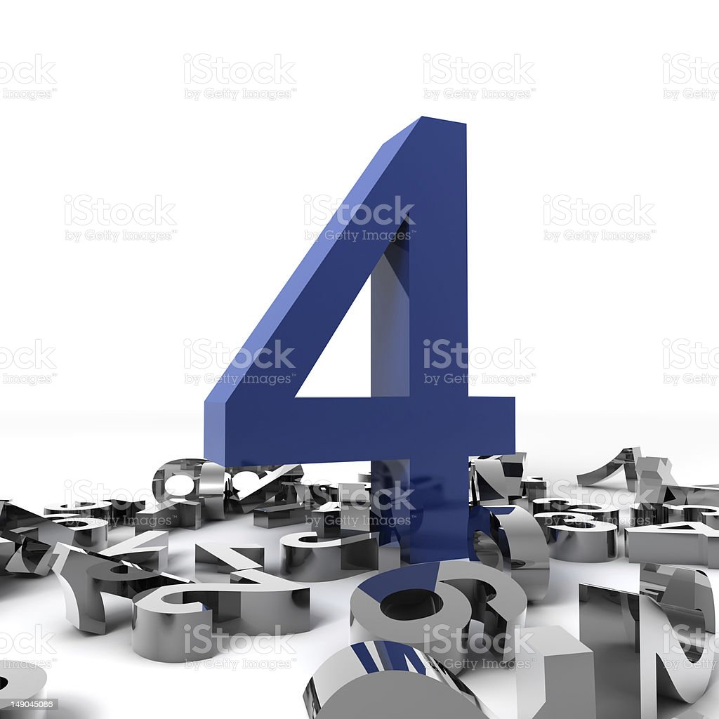 Number Four royalty-free stock photo