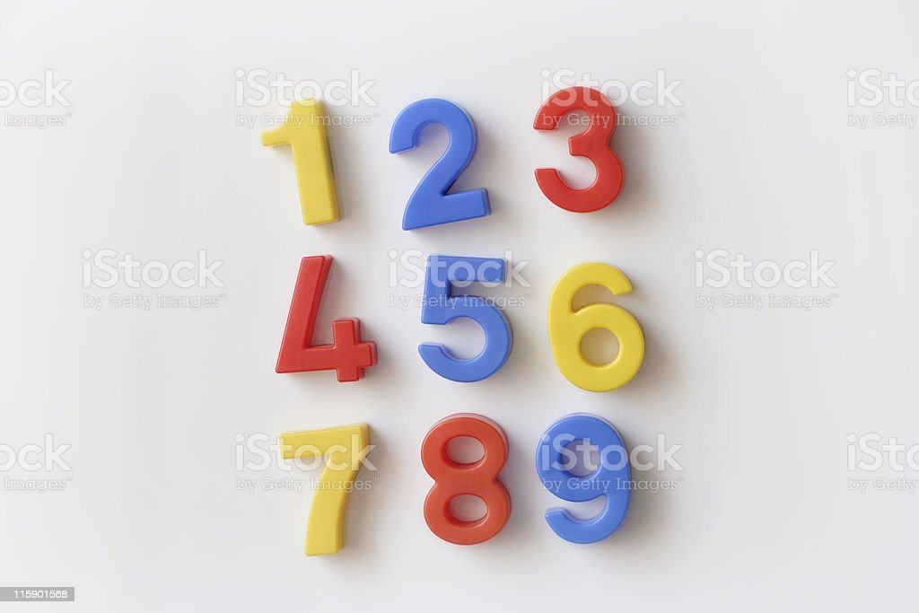 number fridge magnets royalty-free stock photo