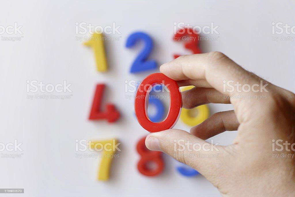 number fridge magnets royalty-free stock photo