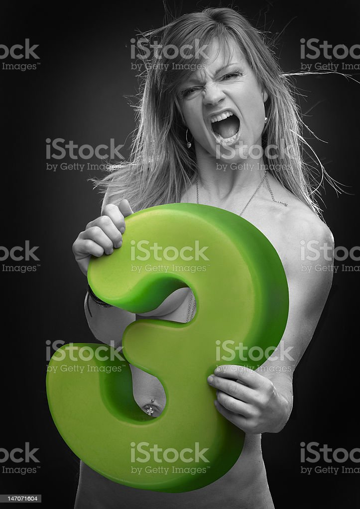 number girl three royalty-free stock photo