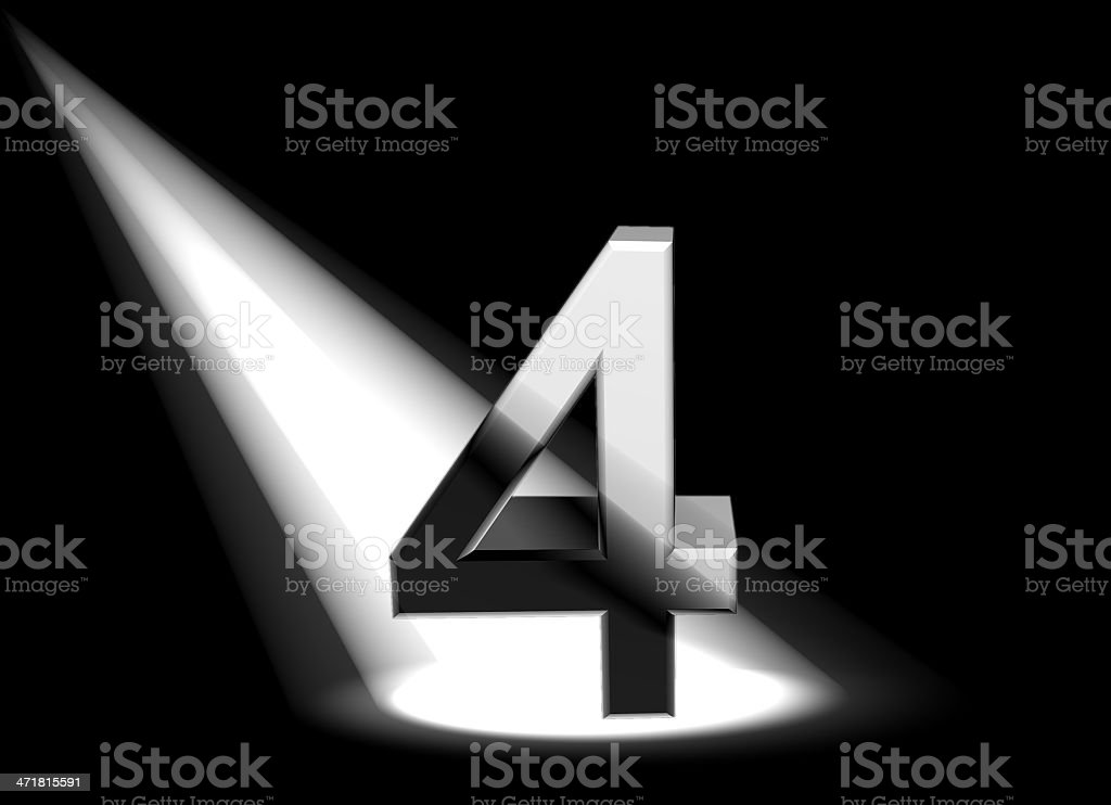 number in spotlight royalty-free stock photo