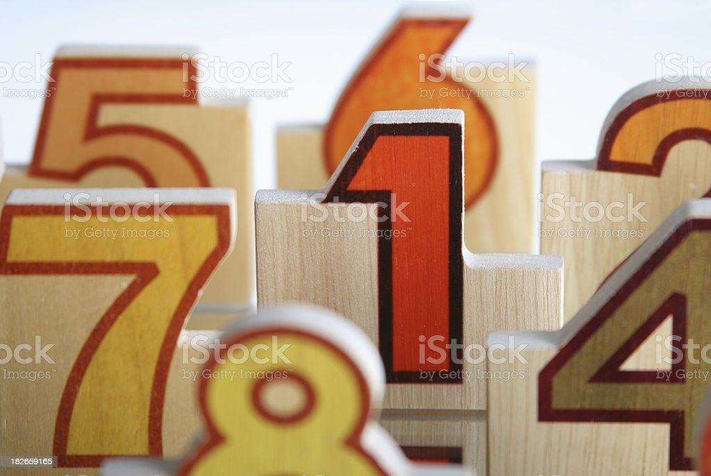 number in the crowd stock photo