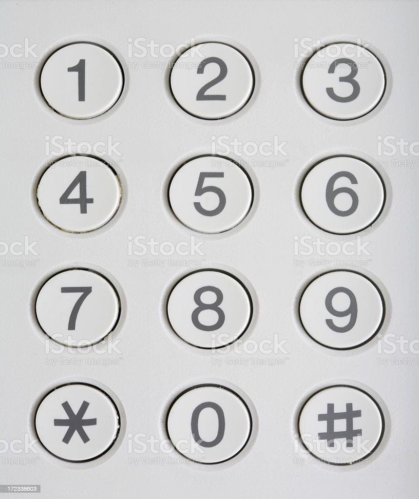 Number Keypad royalty-free stock photo
