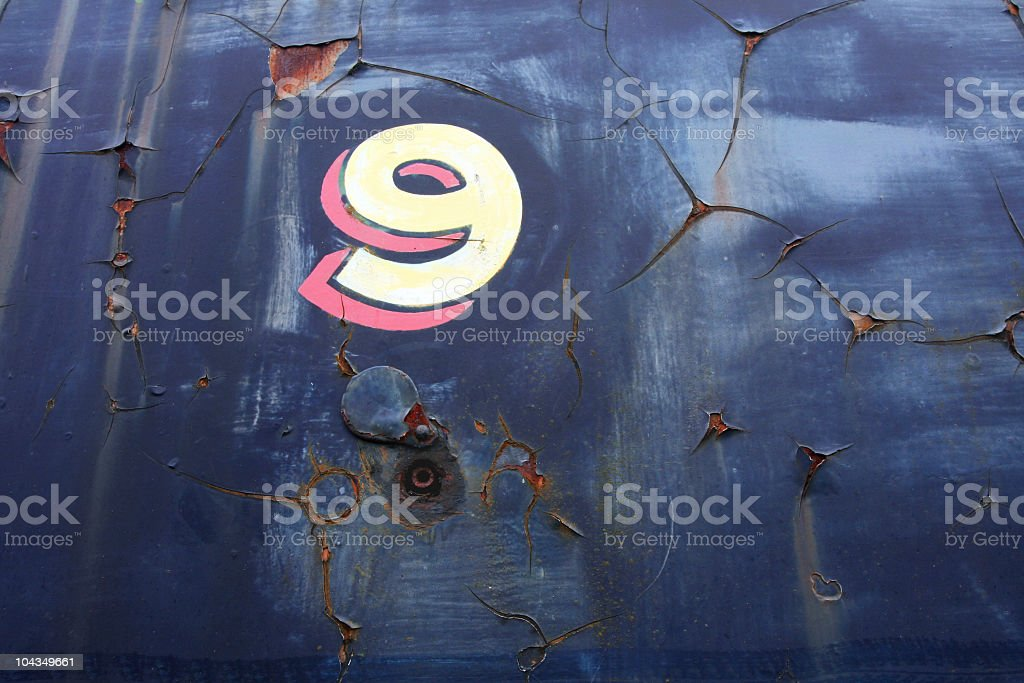 Number Nine is the Key royalty-free stock photo
