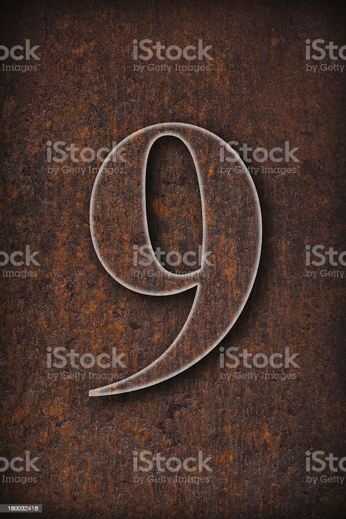 number nine royalty-free stock photo