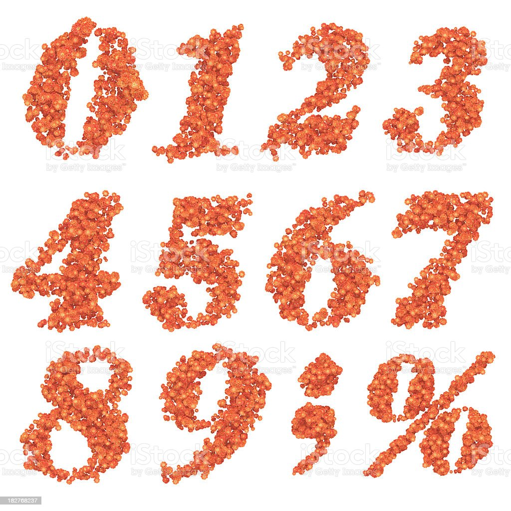 number of flowers royalty-free stock photo