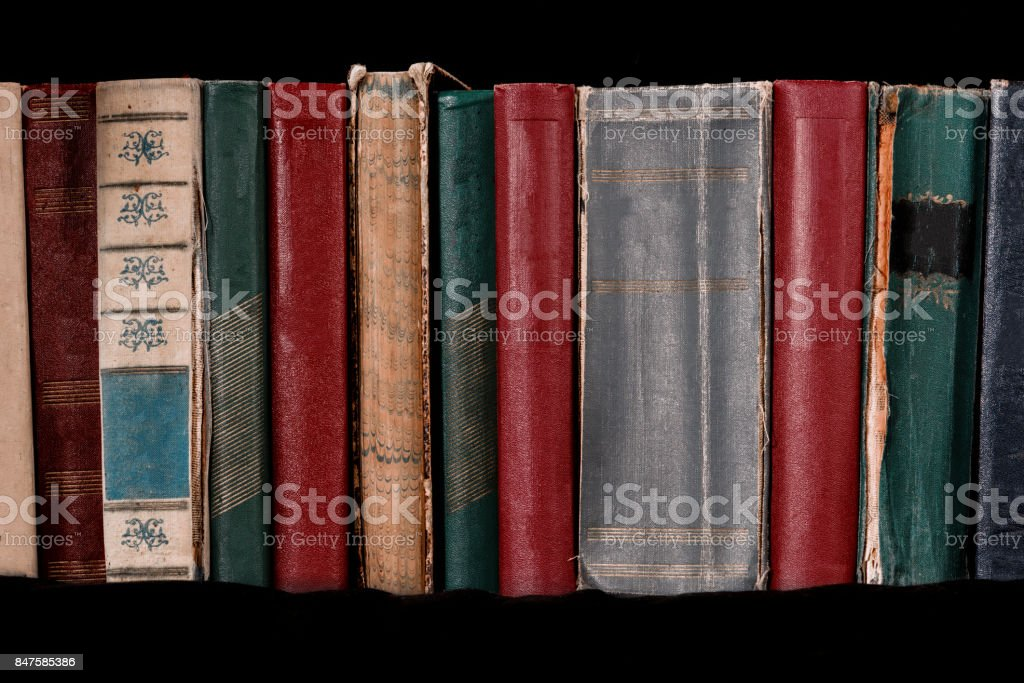 Number of old books stock photo