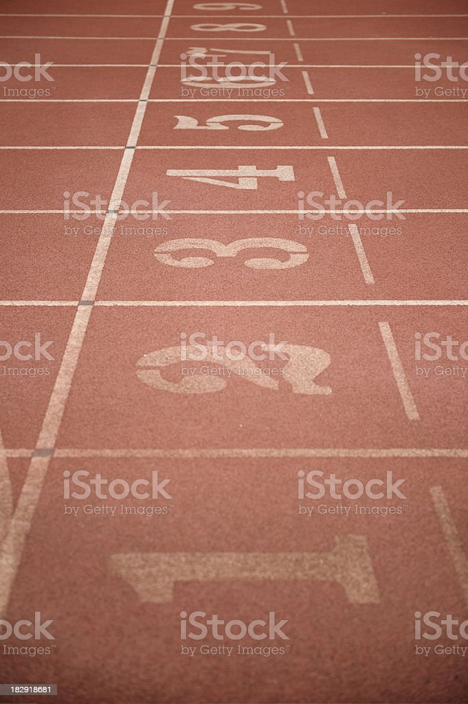 number of running trace royalty-free stock photo
